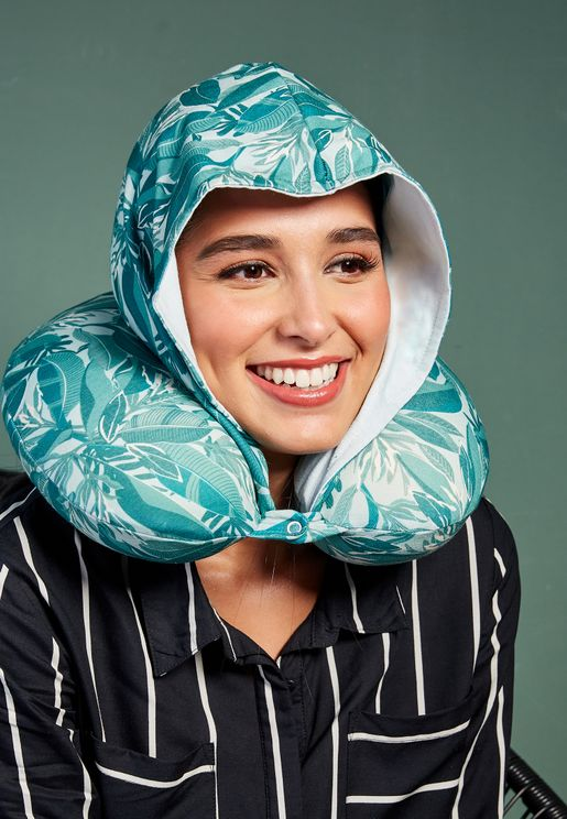 Palm Print Hooded Neck Pillow