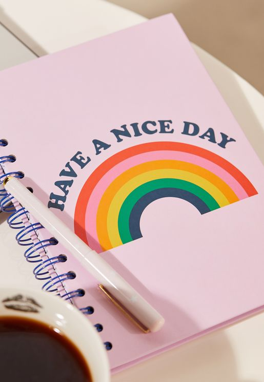 Have A Nice Day Rainbow Notebook