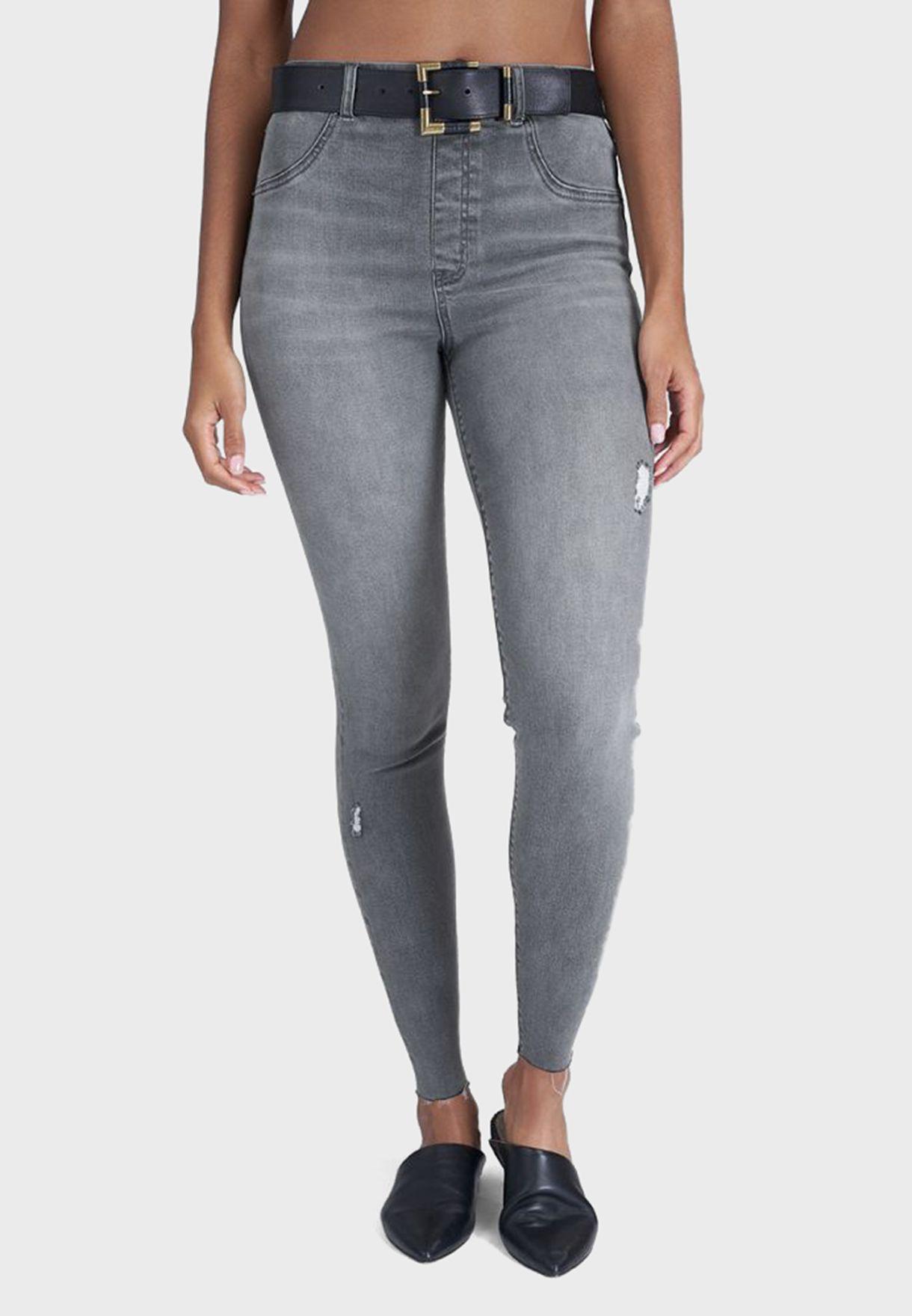 Vintage Distressed Ankle Skinny Jeans