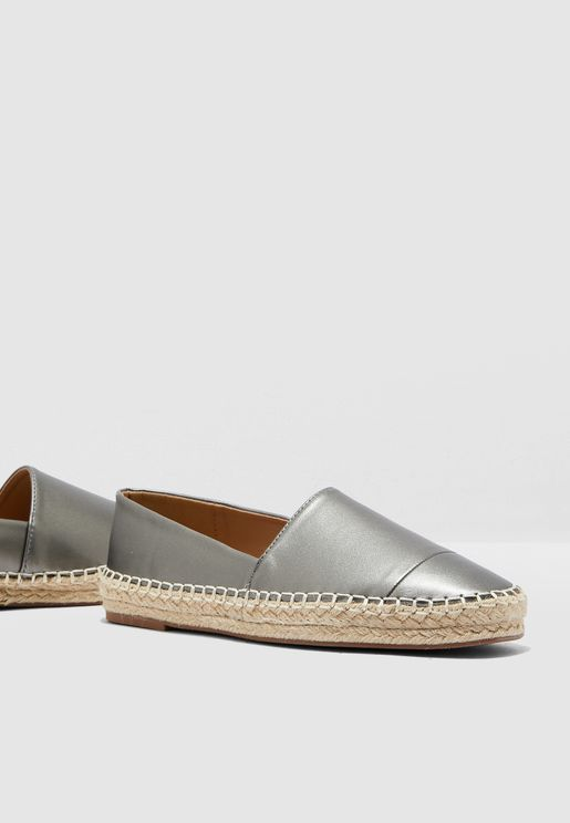 Espadrilles In Metallic