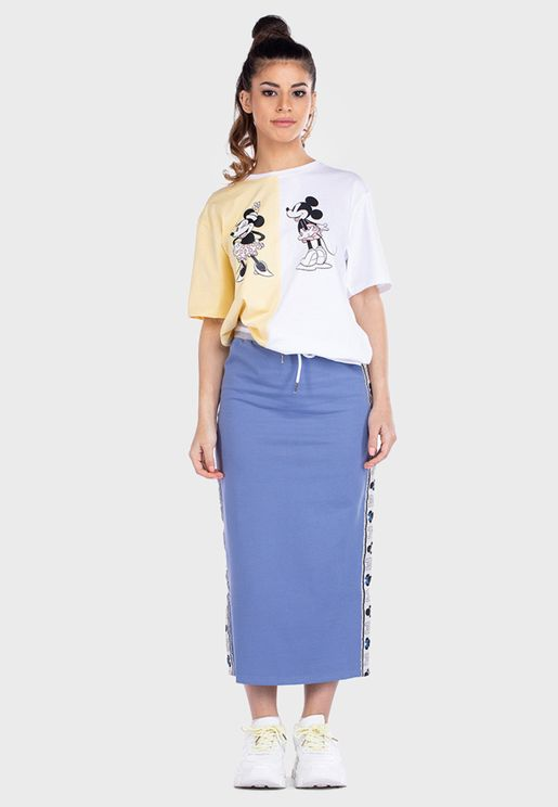 Drawstring High Waist Skirt