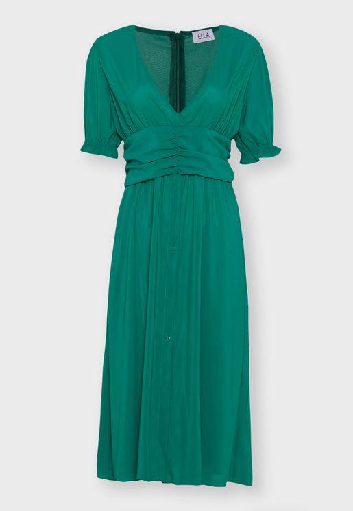 Ruched Waist Midi Dress
