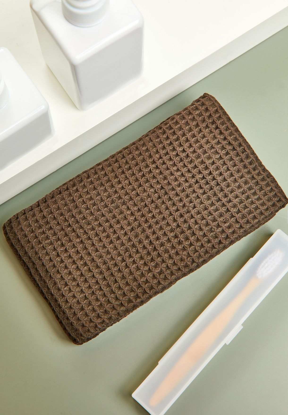 Cotton Waffle Thin Face Towel