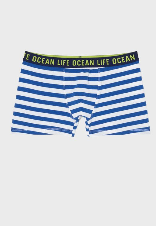 Youth Striped Trunks