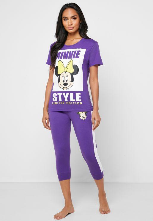 Graphic T-Shirt & Capri Set