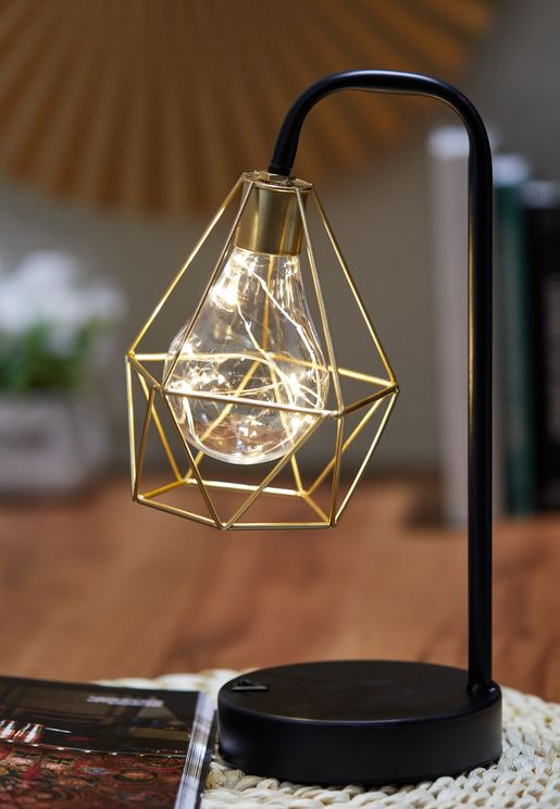 Black Wire Table Lamp