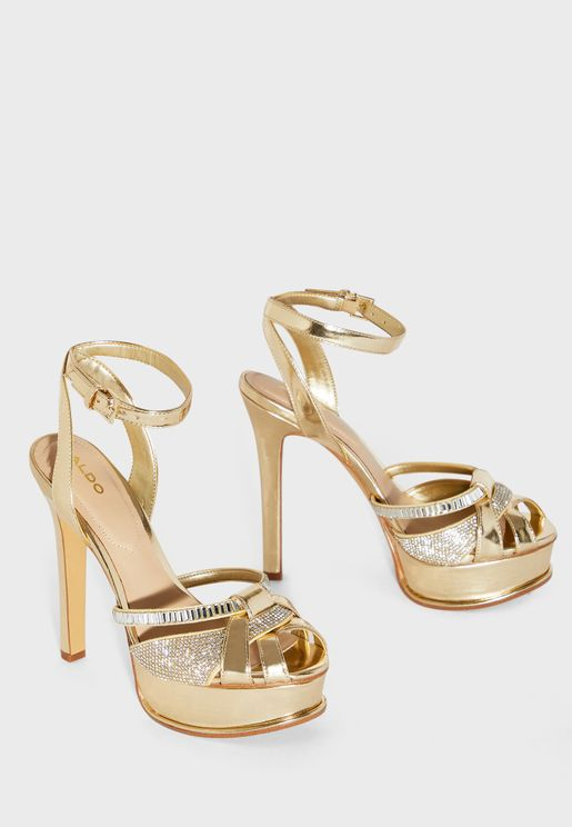 Laclashine Ankle Strap High Heel Sandal