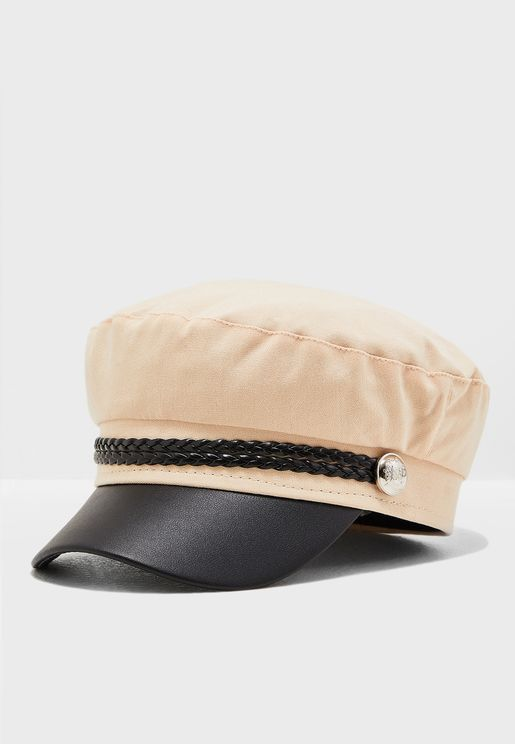Bakerboy Hat With Chain Detail d6b4b5040c