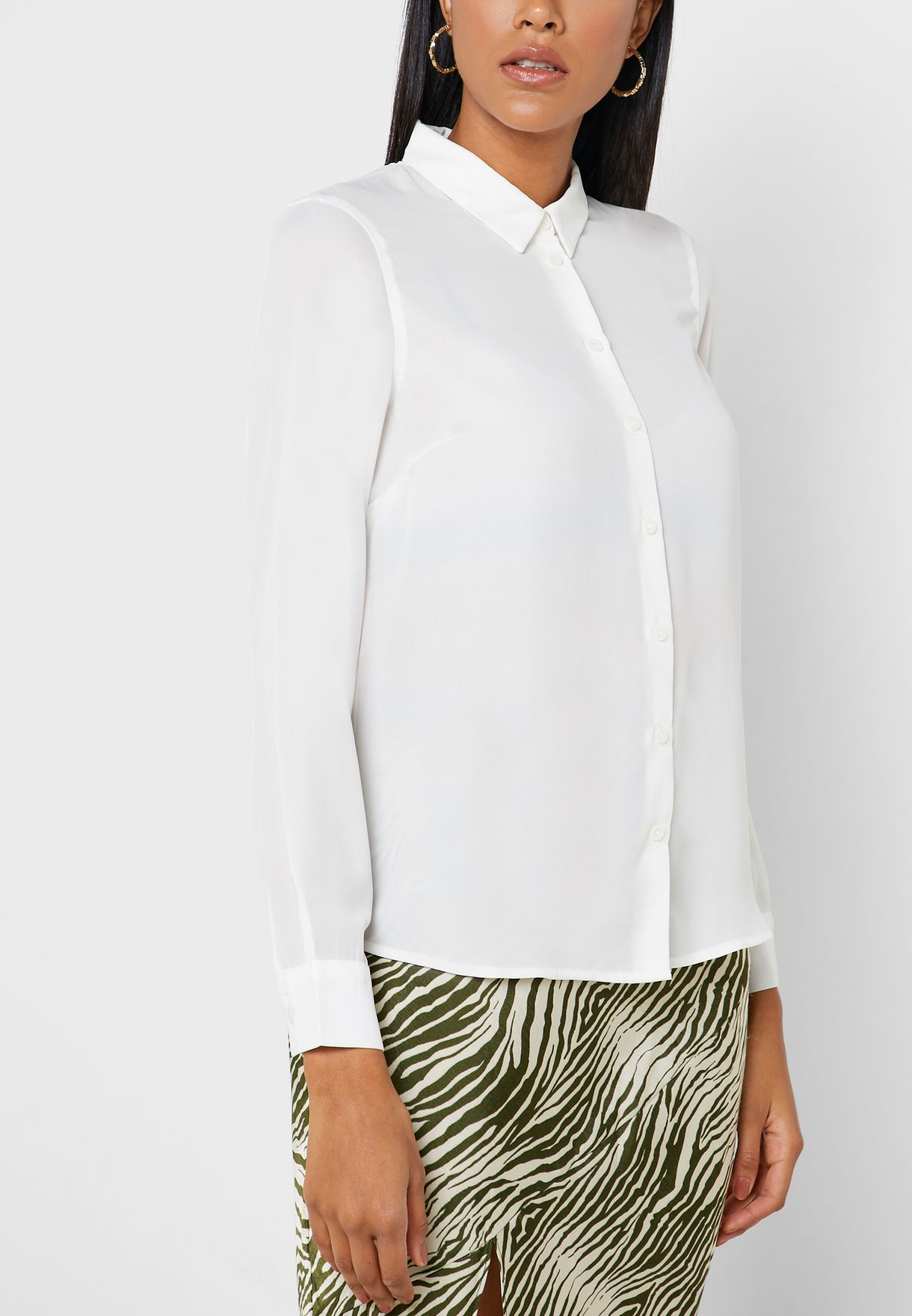 Cuffed Long Sleeve Shirt