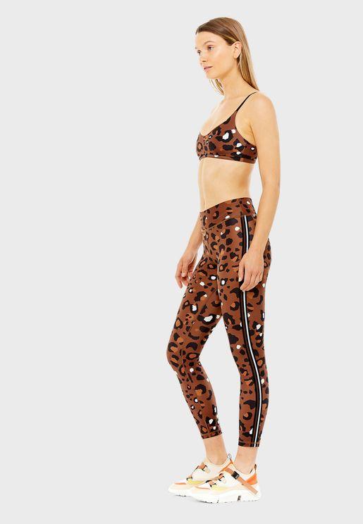 Tabacco Leopard Ballet Bra