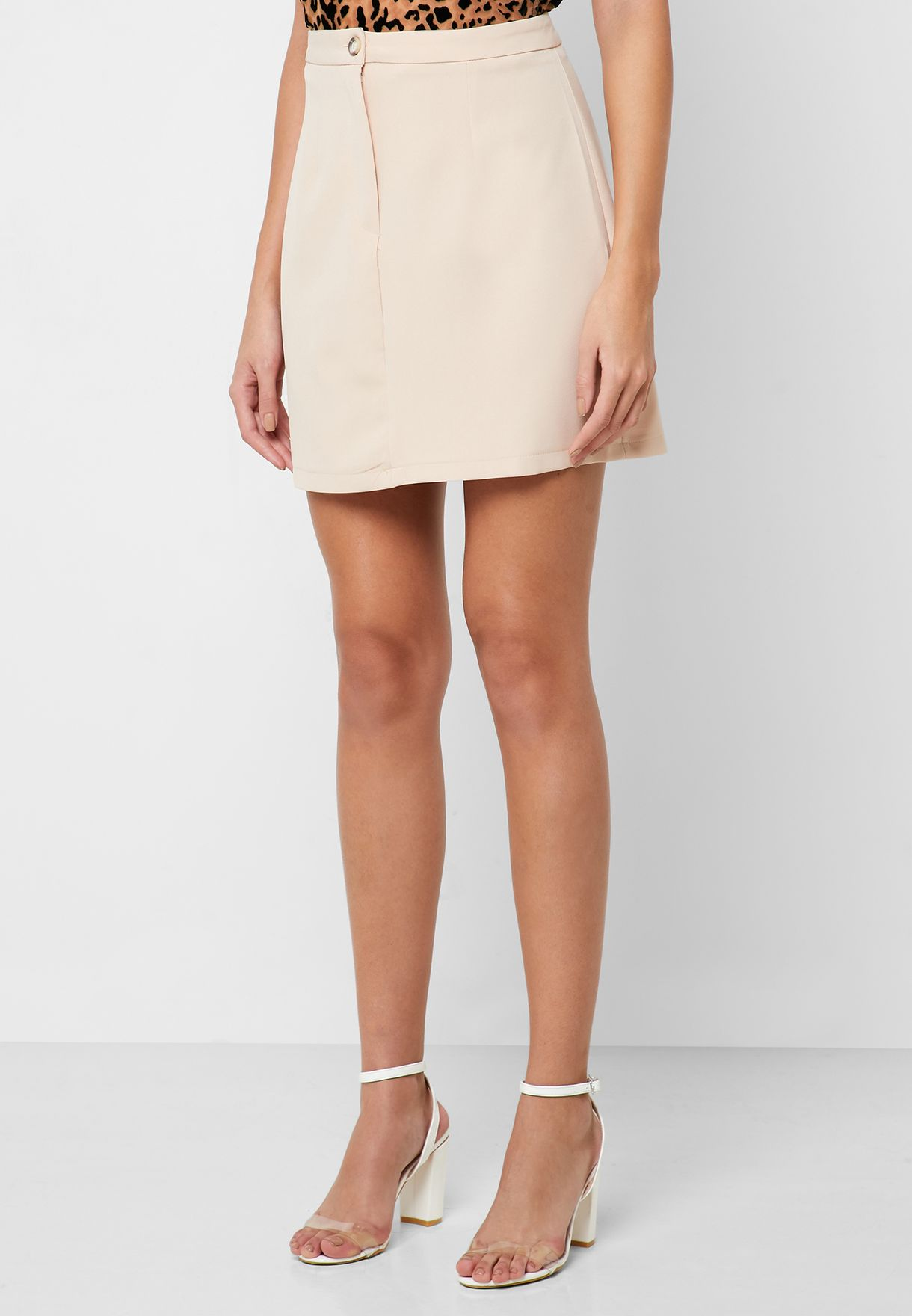 Double Breasted Tailored Mini Skirt Set