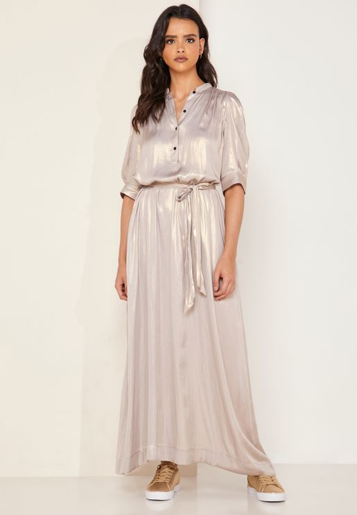 Remedy Tie Neck Maxi Dress