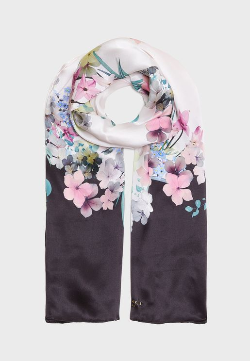 Pergola Long Printed Scarf