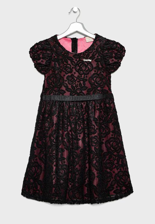 فستان سكاتر دانتيل