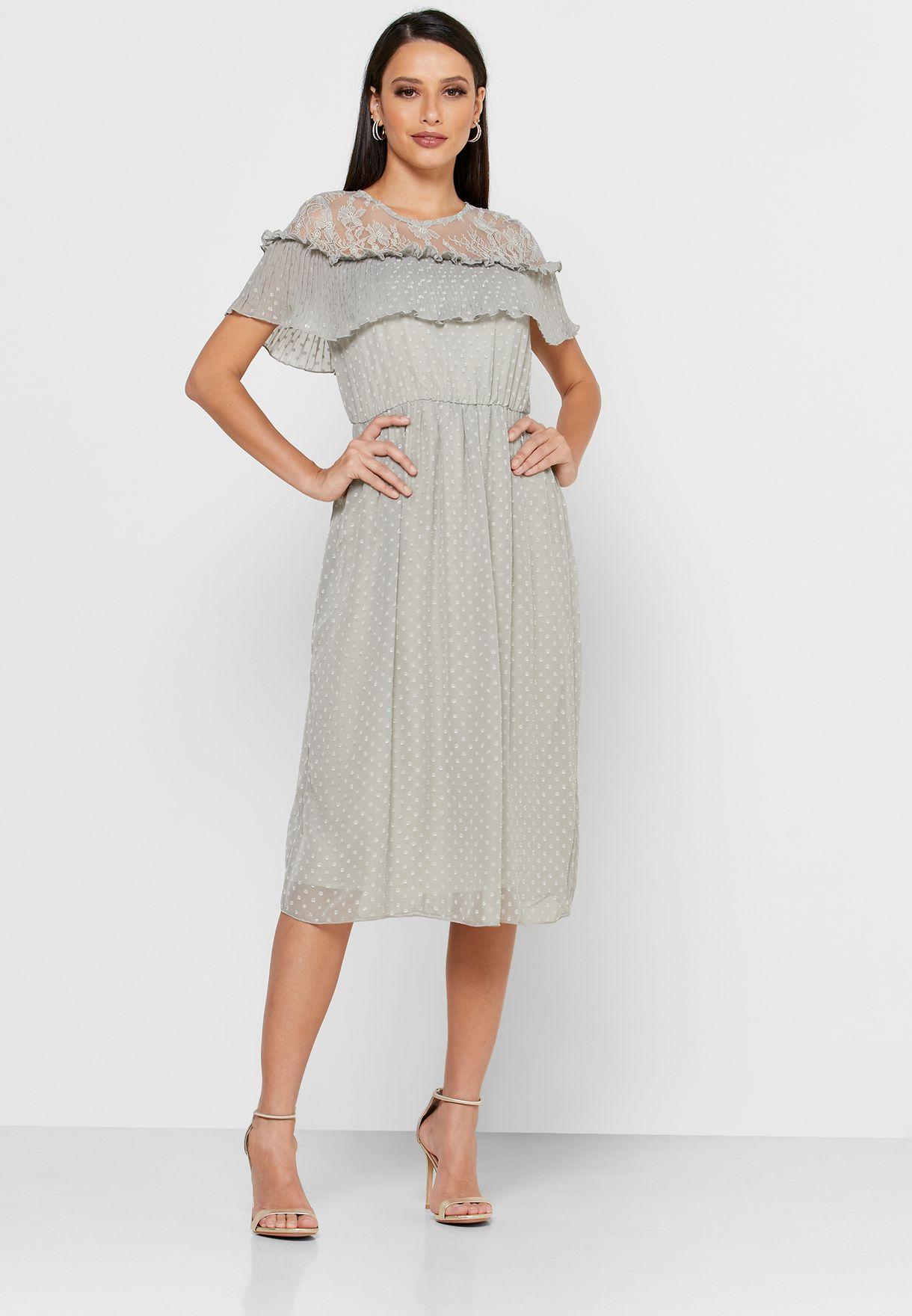Lace Bardot Dress