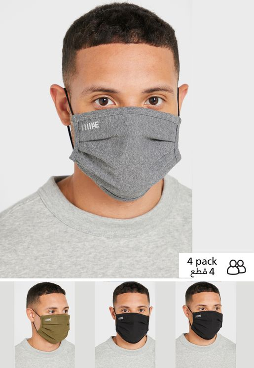 5-Pack Ozone Pleated Face Mask