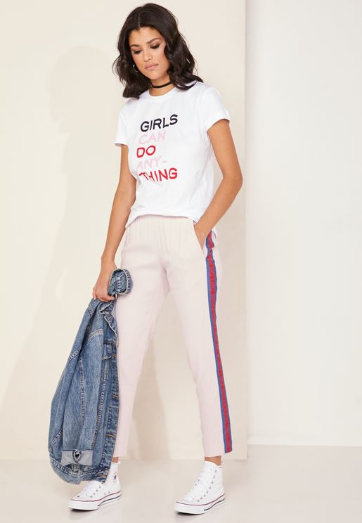 Paula Side Striped Pants