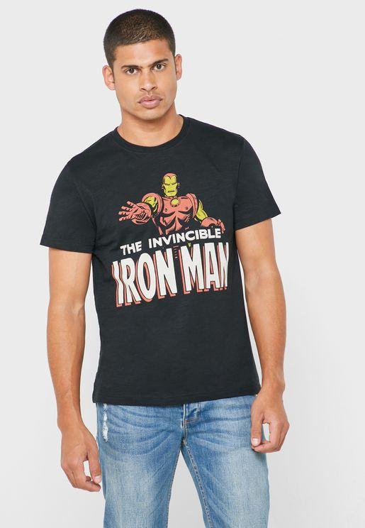 Invincible Iron Man Crew Neck T-Shirt