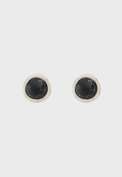 Round Uneven Composite Earring