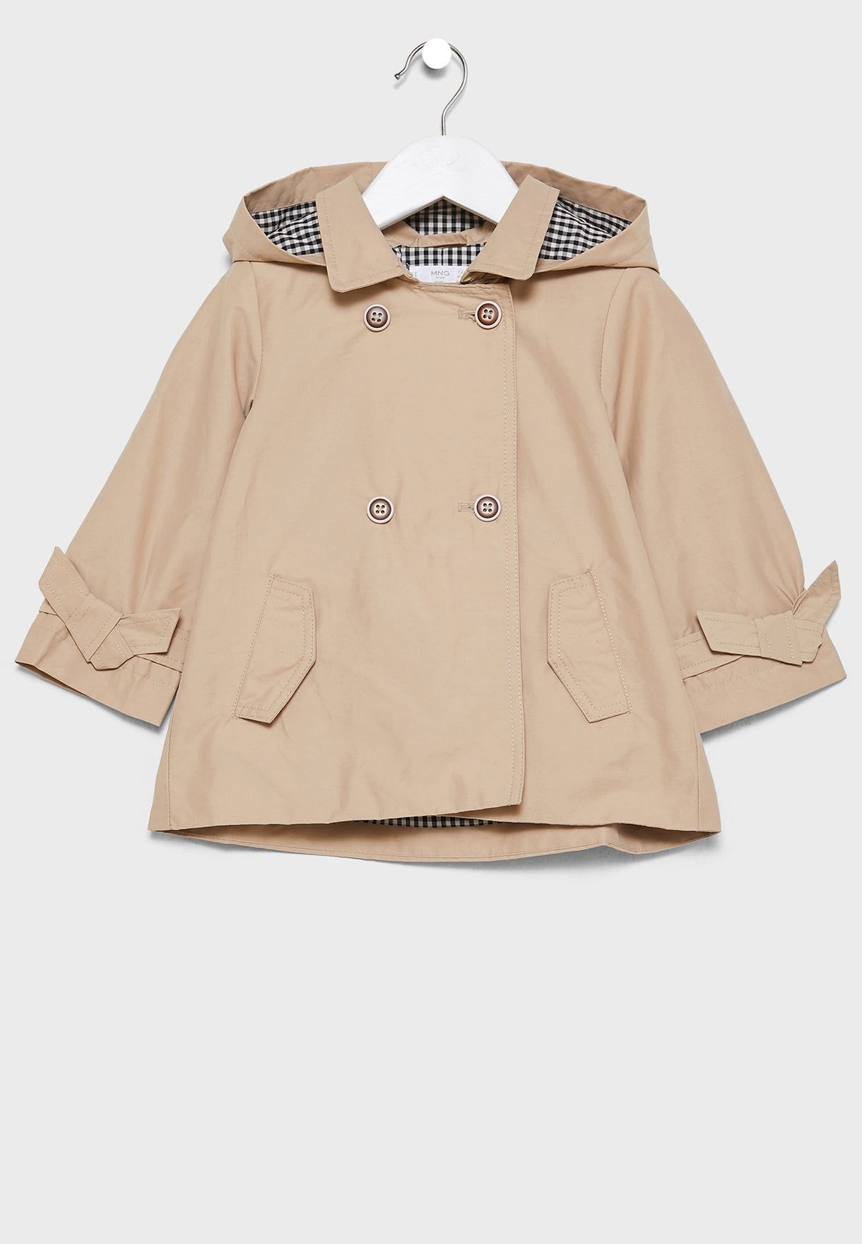 Infant Hooded Trench Coat