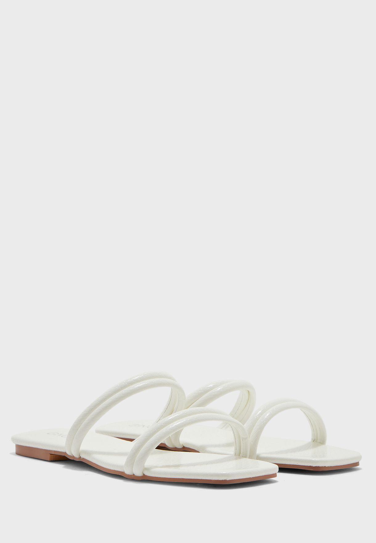 Square Toe Flat Sandals