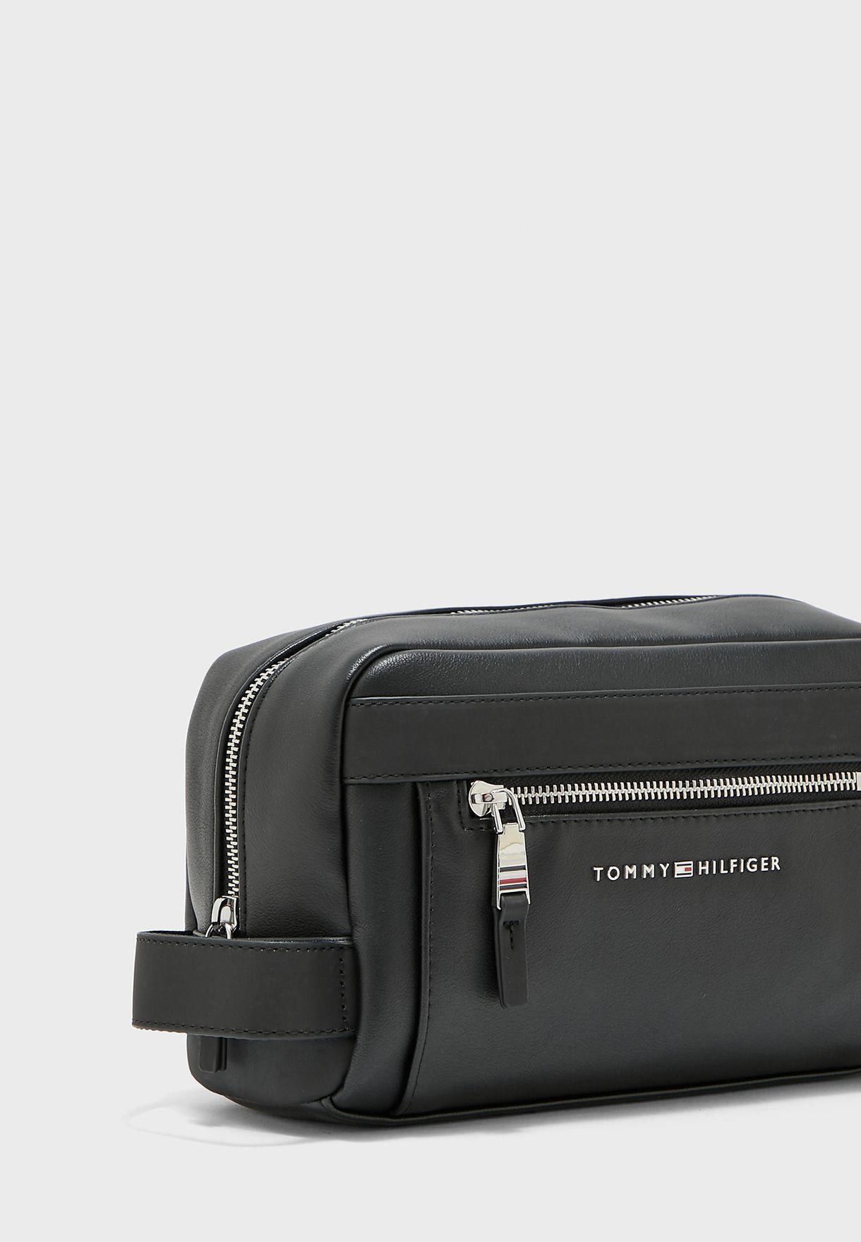 Zip Around Pocket Detail Washbag