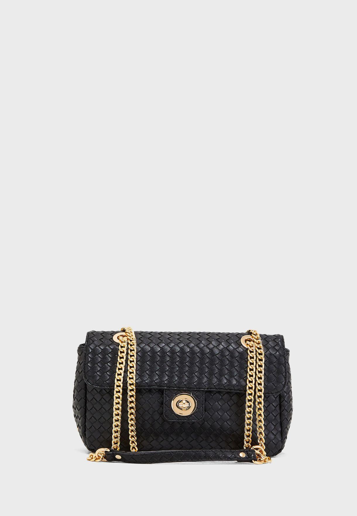5ea3664c7061 Shop Carpisa black Chain Detail Crossbody BS728701S19 for Women in ...
