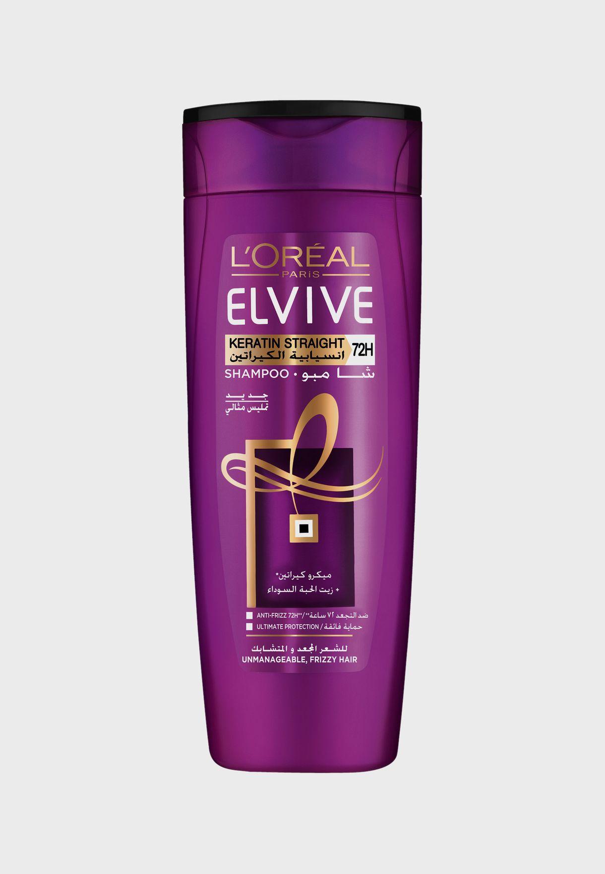 Elvive Keratin Straight Shampoo 400ml