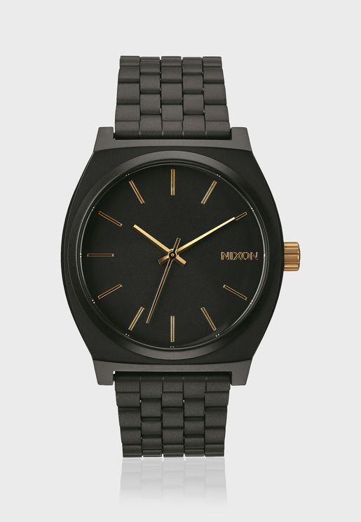 Time Teller Matte Black / Gold Watch