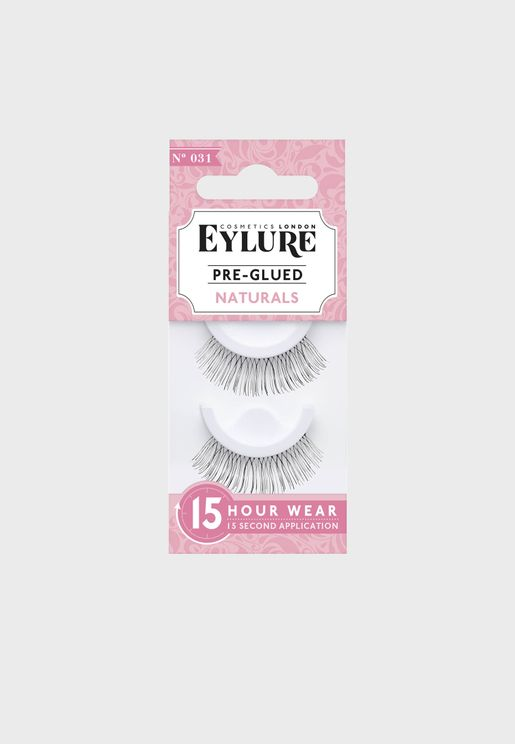 Pre-Glued Lashes - Natural 031