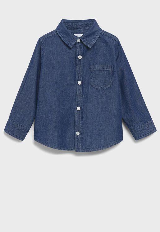 Infant Dark Wash Denim Shirt