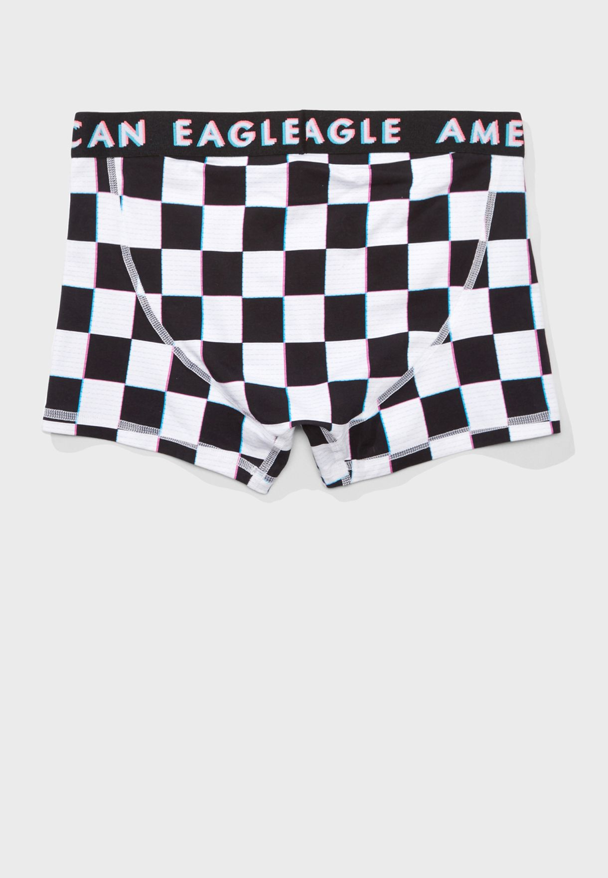 """3"""" Logo Band Checked Trunks"""