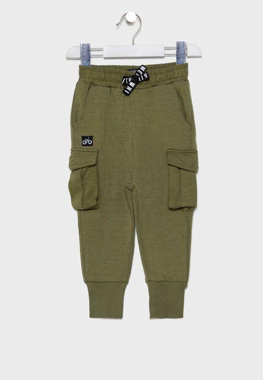 Infant Drawstring Cuffed Sweatpants