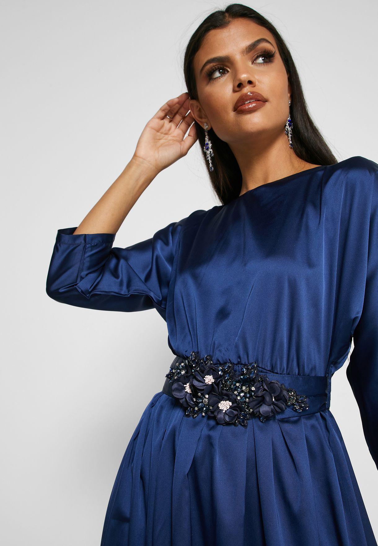 Embellished Waist Maxi Dress