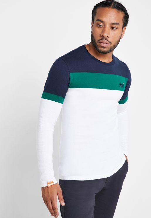 Engineered Colour Block Crew Neck T-Shirt
