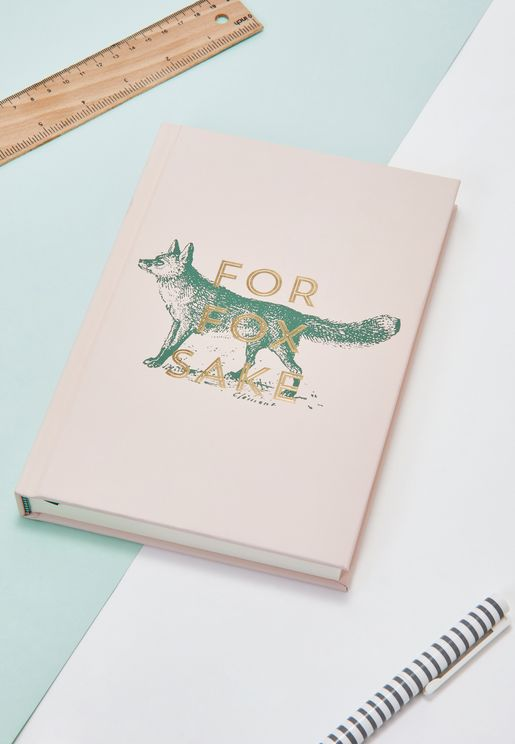 For Fox Sake A5 Notebook