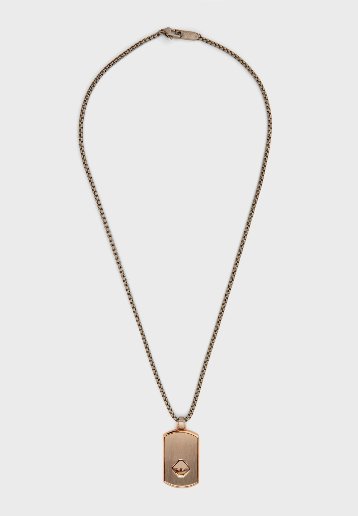 EGS2634040 Logo Tag Pendant Necklace