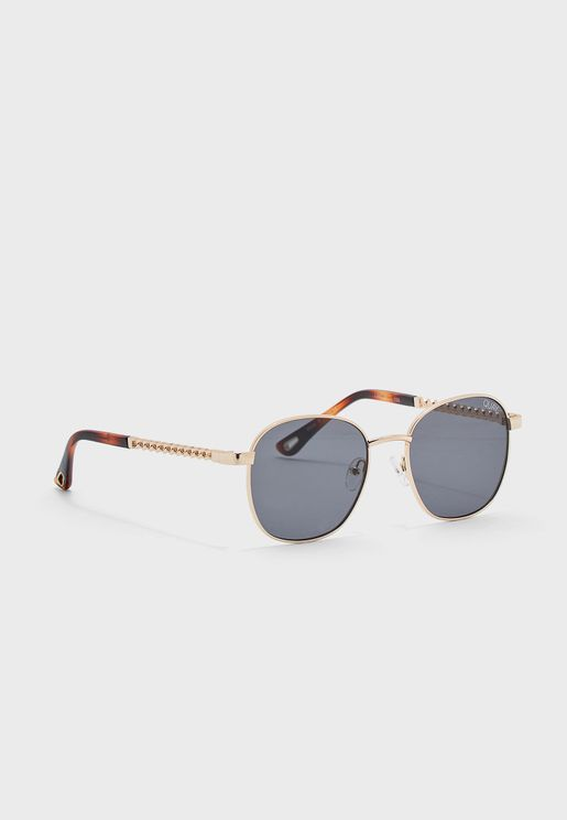 Retro Gradient Round Sunglasses