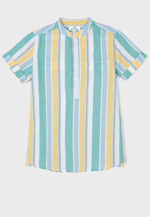 Kids Color Striped Shirt