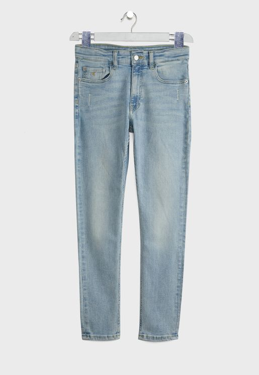 جينز سليم فت بشعار الماركة