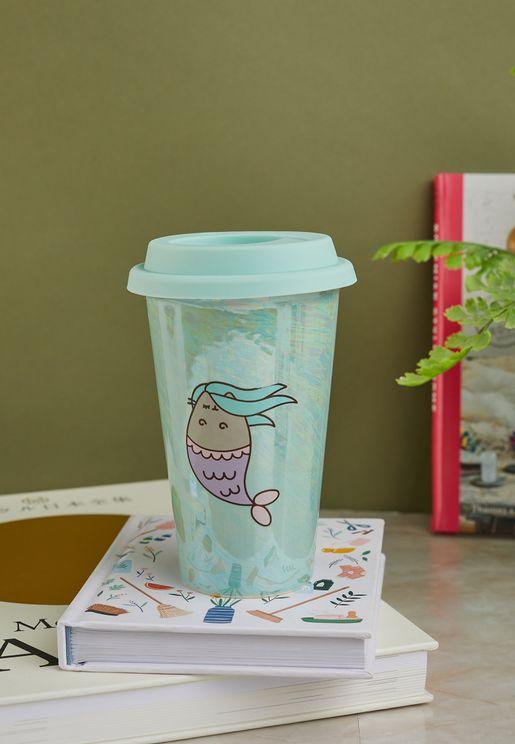 Pusheen Irridescent Mermaid Travel Mug