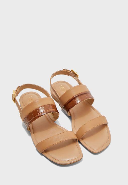 Kristi Ankle Strap Flat Sandal