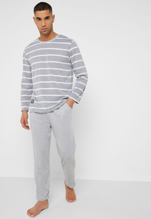 Striped T-Shirt Pyjama Set 0d86506eb
