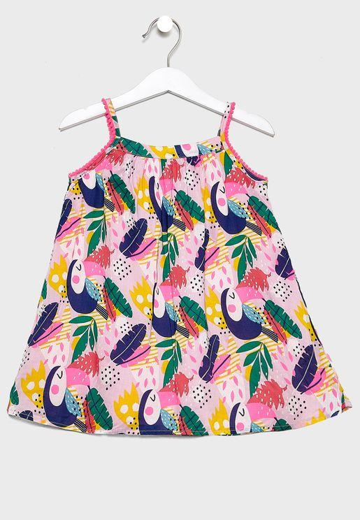 Infant Tropical Print Dress