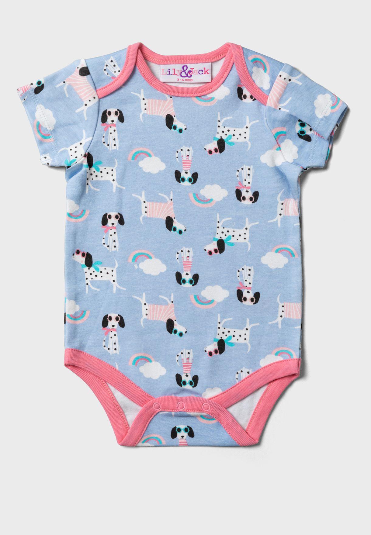 Infant 3 Pack Printed Bodysuit