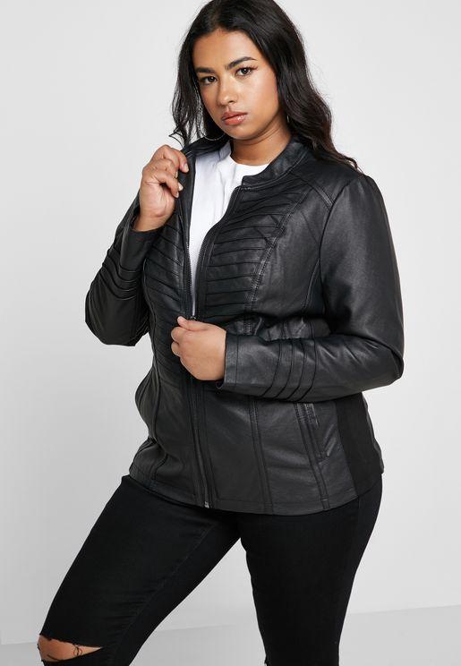 05486d6b25132 PLUS-SIZE. New Look Curve. Tie Sleeve Longline Blazer. 150 AED · 18 · 20 ·  22 · 24 · 26 · 28 · Leather Look Zip Through Biker Jacket