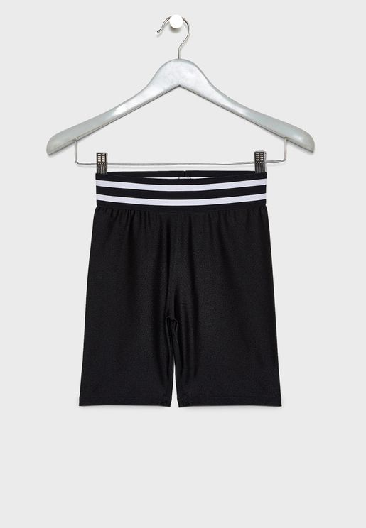 Teen Stripped Waist Sweatshorts