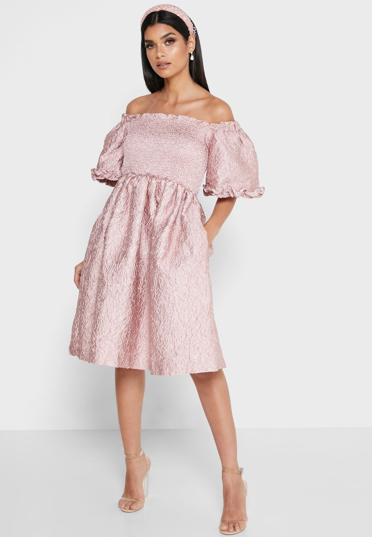 Bardot Jacquard Skater Dress