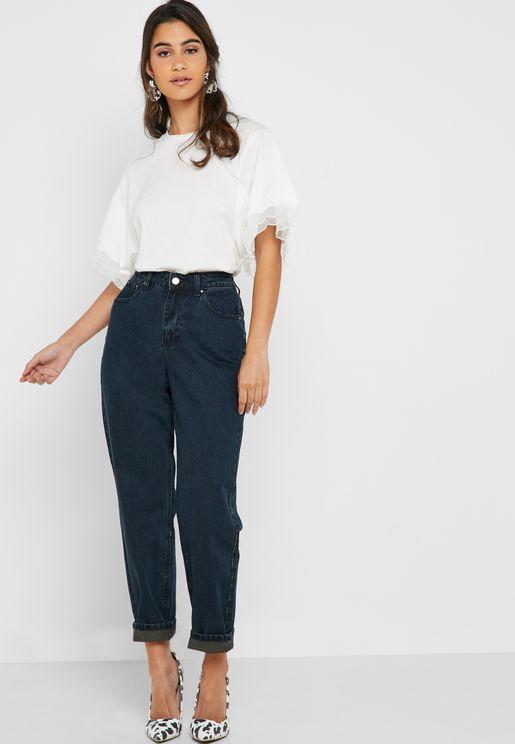 Dark Wash Straight Jeans