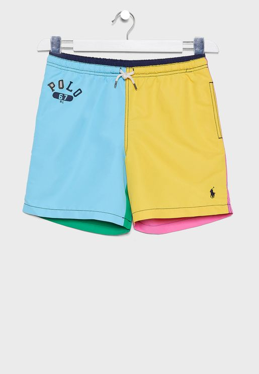Teen Color Block Shorts